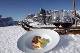 ski cuisine gourmet ski safari dolomites skiing dolomite mountains