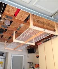Building Wooden Garage Storage Shelves by Best 25 Overhead Garage Storage Ideas On Pinterest Diy Garage