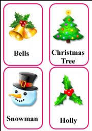 christmas flash cards workheet n 322402