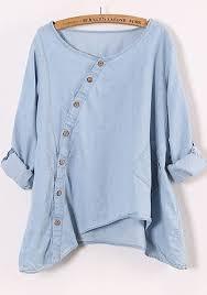 denim blouses blue neck sleeve denim blouse blouses tops