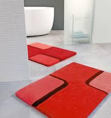 Contemporary Bath Rugs Fantastic Red Bathroom Rugs Plush Washable Red Bathroom Rugs