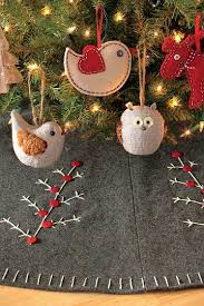 adorable felt christmas decor stockings table runner tree skirt