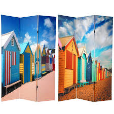 tall room dividers 6 ft tall double sided beach cabana room divider roomdividers com