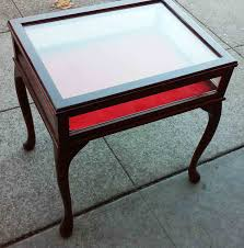 Display Case Coffee Table by Uhuru Furniture U0026 Collectibles Sold Display Case End Table 50
