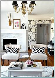 Black And White Accent Chair Black And White Chairs Living Room Amusing Black White Accent