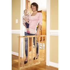 Child Gate Stairs by Storkcraft Easy Walk Thru Wooden Safety Gate Choose Your Finish