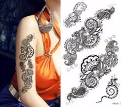 beautiful temporary tattoos stickers designs for women
