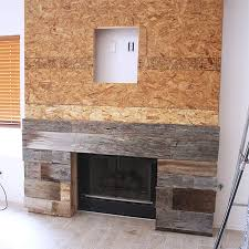 Fireplace Surround Ideas Reclaimed Wood Fireplace Surround Adding Planks House Ideas