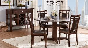 cherry wood dining room table riverdale cherry 5 pc round dining room dining room sets dark wood