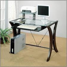 Glass Corner Computer Desks For Home Glass Corner Computer Desk Uk Glass Computer Desk Black Glass