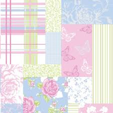 endearing pink and blue floral wallpaper nice home decor ideas