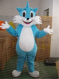 blue fox cat mascot costume halloween costumes party costume