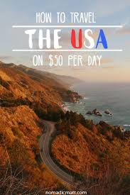 how to travel across the united states on 50 a day