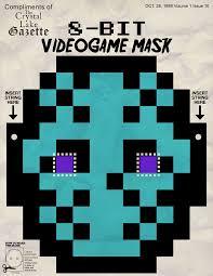 8 bit videogame halloween cut out mask u2013 jack u0027s attic