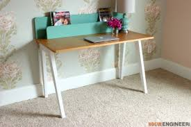 Diy Modern Desk Modern Desk W Organizer Free Diy Plans Rogue Engineer