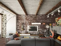 livingroom wall ideas living rooms with exposed brick walls