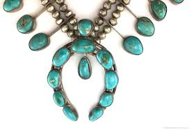 blue gem necklace images Navajo blue gem turquoise and silver squash blossom necklace jpg