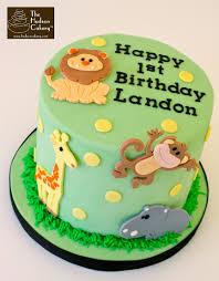 1st Birthday Cake Safari 1st Birthday Cake Topper Birthday The Hudson Cakery