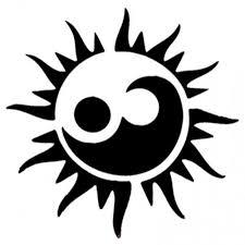 yin yang sun stencil for spray tattooforaweek temporary