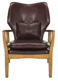 Brown Leather Accent Chair Accent Chairs Armchairs Side Chairs Safavieh