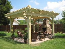 Building A Pergola On Concrete by Mahogany Deck And Screen Concrete Pavers And A Sleek Pergola