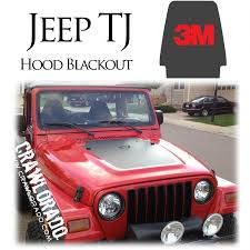 blacked out jeep tj hood blackout