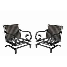 Black Metal Patio Chairs Shop Patio Chairs At Lowes