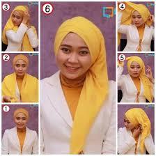 tutorial hijab paris ke pesta hijab cara memakai jilbab paris segi empat untuk pesta