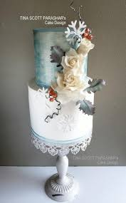 winter wonderland wedding cake by tina scott parashar u0027s cake