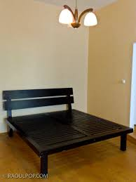 build your own bed frame wooden plans two person computer desk
