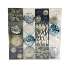 smith 50ct shatterproof ornaments midnight clear