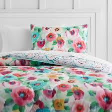 Rainbow Comforter Set Rainbow Blossoms Reversible Comforter Sham Pbteen