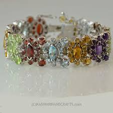 garnet sterling silver bracelet images Silver stone bracelets archives kashmir fine arts jpg
