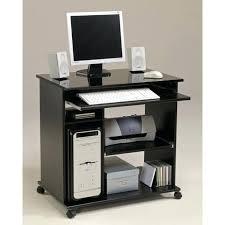 petit bureau noir petit bureau informatique pc ikea fredde desk sur roulettes bim a co