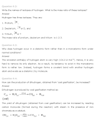 ncert solutions for class 11th chemistry chapter 9 u2013 hydrogen