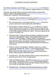 Terminate Lease Letter Free California Sub Lease Agreement Pdf Word Doc