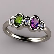 mothers rings 2 stones bezeled 2 oval mothers ring with diamond