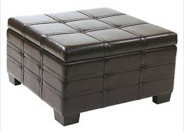 Square Brown Leather Ottoman 36 Top Brown Leather Ottoman Coffee Tables