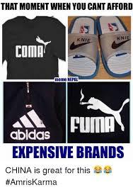 Puma Meme - that moment when you cantafford knie knie coma meme nepal puma