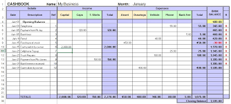 excel cashbook for easy bookkeeping