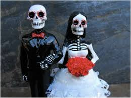 day of the dead wedding cake sugar skull wedding cake toppers