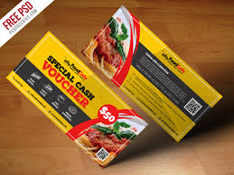 discount restaurant gift cards food voucher template free psd psd