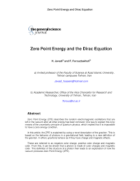 zero point energy and the dirac equation pdf download available