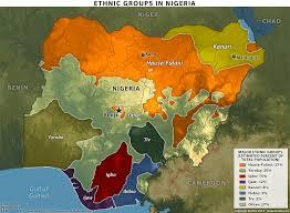 nigeria physical map nigeria acaps