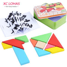tangram puzzle large size wooden jigsaw puzzle classic geometric shape tangram