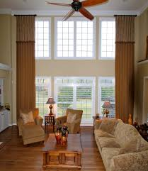Curtains High Ceiling Decorating Living Room Window Treatment Ideas Rod Curtain