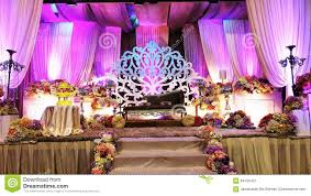 luxury wedding stage in front view editorial photography image