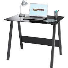 Computer Desks For Home Office by Genuine Piranha Barbel Compact Toughened Black Glass Computer Desk