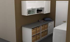 White Laundry Room Wall Cabinets Brown And White Modular Wall Cabinets Laundry Room
