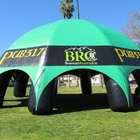 custom inflatable spider tent pub 317 and bozeman running company